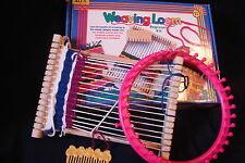 Alex Beginner Kit Wooden Weaving Loom + Extra Pink Round Plastic Loom