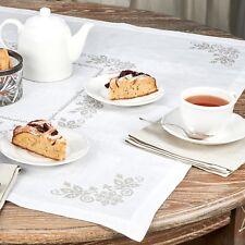 """Tablecloth Topper / White / Harmony / 26""""x26"""", 35""""x35"""" / 100% European Linen"""