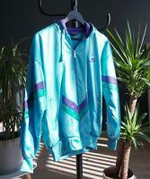 Vintage Rare 80s Nike Oregon Athletic Hoodie Turquoise Men's Size M
