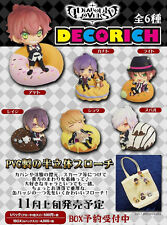 Movic Diabolik Lovers DECO☆RICH Pins Collection Figure Mascot # Full set of 6