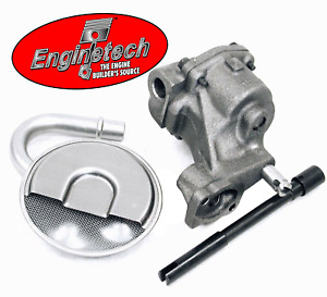 Stock Oil Pump w/ Pickup Screen & HD Drive for Chevrolet SBC 283 305 327 350 400