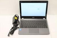 Acer Chromebook 11 C740-C4PE 11.6in Celeron 3205U @1.50GHz 4 GB RAM 16GB SSD--