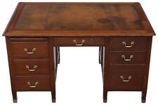 Antique quality mahogany twin pedestal partner's desk C1920
