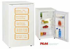 PKM Kühlschrank mit Gefrierfach freistehend 88 Liter 50cm breit LED Beleuchtung