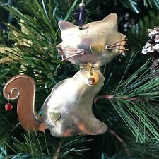 Cat Ornament, Christmas, Holiday Decoration, Cat Lovers Gift, Metal, Handcrafted