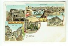 EARLY GRUSS AUS TYPE POSTCARD MALTA / MALTESE VINTAGE C.1900