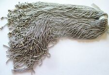 Wholesale Lot of 100 Silver Tone Ball Chain Necklaces, 18 Inches