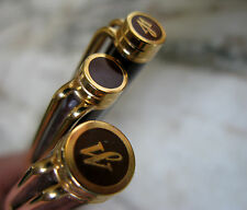 RARE PARURE WATERMAN GENTLEMAN LAQUE MARRON & OR (SP+SB+SM)- PLUME OR MASSIF 18K