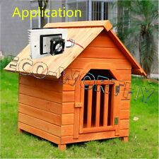 Solar-Powered Semiconductor Refrigeration Pet Air Conditioner Cooler DC 12V