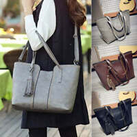 Women's Leather Handbag Tassel Shoulder Bag Tote Purse Messenger Bag Fashion