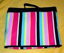 SoHo New York London Cosmetic Traveler Weekend Makeup Bag Purse Case Stripes