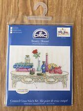 DMC 14 Count Cross Stitch Kit Beauty Dressing Table Perfumes 25 x 15 cm Crafts