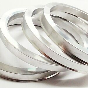 Spigot Rings ALLOY (4) 73.1mm to 60.1mm Spacers Hub 73.1 60.1