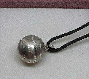 VINTAGE STERLING SILVER 925 SIGNED TAXCO MEXICO BOLA PENDANT / HARMONY BALL