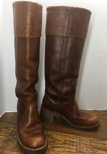 Vintage Miss Capezio USA Made Womens size 6M Leather Cuff Riding Campus Boots