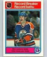 1982-83 O-Pee-Chee Hockey #1 Wayne Gretzky Edmonton Oilers RB  Official NHL OPC