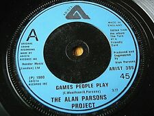 """THE ALAN PARSONS PROJECT - GAMES PEOPLE PLAY  7"""" VINYL"""