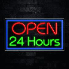New Listingopen 24 Hours Led Flex Neon Sign For Retail Window Displays Energy Efficient