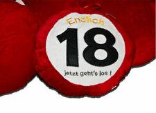 Kissen speziell zum 18. Geburtstag Endlich 18