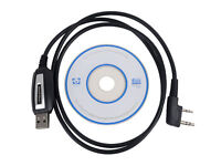 USB Program Cable +CD For Baofeng UV-5R 888S BF-T1 Two Way Radio Walkie Talkie G