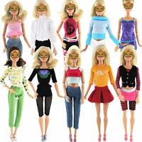 5pcs/Set Rock Hose Tops Hemd Kleider Kleid Kleidung ~ für Puppe 30cm C5E7