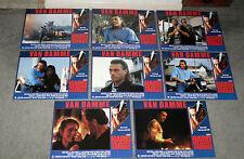 HARD TARGET original 1993 lobby card set posters JEAN CLAUDE VAN DAMME/JOHN WOO