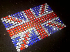 2 x Self Adhesive DIAMANTE UNION JACK phone sticker iphone blackberry cover Gems