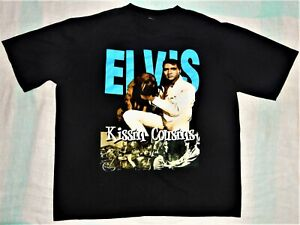 ELVIS PRESLEY ~ THE KING ~ T - SHIRT ~ KISSIN COUSINS ~ Size XL Like New