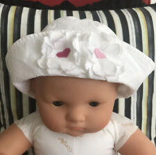 Rykiel Enfant Baby Girl White Sailor Hat With Flowers Size 1 (6-12 Mo) Nwt