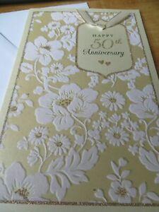 American Greeting Card Happy 50th Wedding Anniversary (Gorgeous)