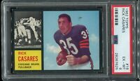 1962 Topps Football #16 RICK CASARES Chicago Bears PSA 6 EX-MT