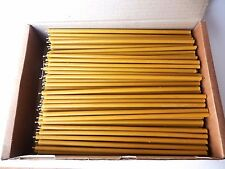 "200 Natural 100% Pure Beeswax Taper Candles ( 10"") Natural Honey Scent"