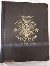 1864 Johnson's New Illustrated Family Atlas - original folio! [chk price]