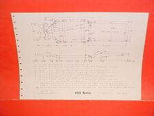 1972 PONTIAC VENTURA II SPRINT COUPE SEDAN SAFARI WAGON FRAME DIMENSION CHART