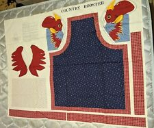 Country Rooster Cotton Apron Pattern Fabric