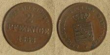 German States: Saxe-Meiningen  2 pf. 1868  AU  KM#174   CM030