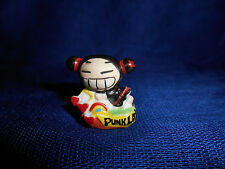 PUCCA Big Smile Rainbow PUNK LOVE Mini Figure French Porcelain FEVES no Guitar