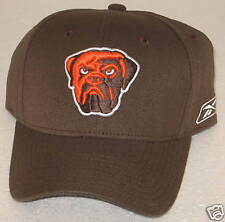 NFL Cleveland Browns Brown Structured Flex Fit Fitted Hat By Reebok, M/L