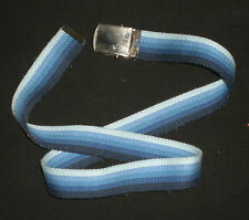 "Classic Blue Monochromatic Belt w/Metallic Slider Grip Buckle L: 37"" W: 1 3/8"""