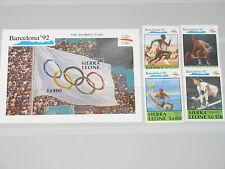 Sierra Leone 1990 1509-16 Bl 137-8 Olympics Barcelona**