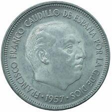 COIN / SPAIN / 5 PESETAS 1957 '60 UNC BEAUTIFUL COLLECTIBLE    #WT29721