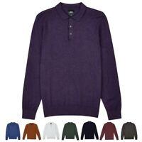 Mens Burton Long Sleeve Knitted Polo Shirt Jumper Top Sizes XS - 5XL