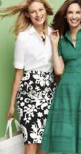 $99 NWT TALBOTS WOMENS COTTON LINED PAISLEY PRINT PENCIL SKIRT SIZE 2
