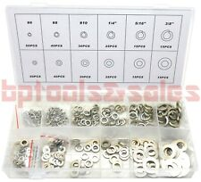 350pc Washer Assortment Set Flat & Spring Type Washer Kit 6 Sizes