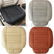 Car Front Seats PU Leather Cover Bamboo Slip Bucket Seat Protector Cushion Mat