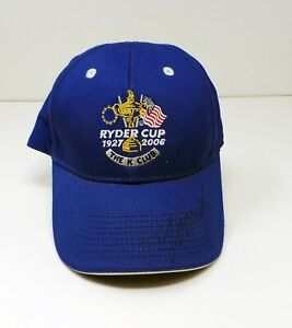 Colin MONTGOMERIE Signed Ryder Cup The K Club Golf Cap Autograph AFTAL RD COA