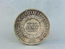 1856 Brazil 1000 Reis Silver Coin KM465