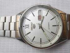 Free Shipping Rare Vintage SEIKO 5 Japan Steel D/Date Gents Automatic WristWatch