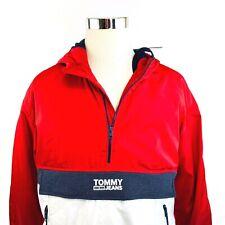Tommy Hilfiger Premium 1/4 Zip Anorak Hooded Windbreaker...