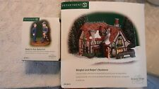 Dept 56 Abington Lock Keeper's Residence - MINT w BONUS Ready For Duty Accessry